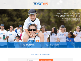 Website Copy: JDRF One Walk
