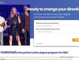 Landing Page: Education Connection